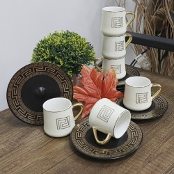 12-piece coffee cup set