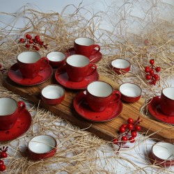 18-piece coffee cup set