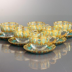 TEA SET WITH HANDLE - HUMEYRA GOLD