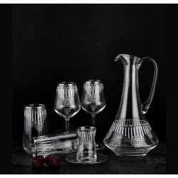 Set of 49-piece crystal glass