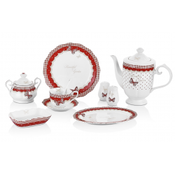 Porcelain breakfast set - 36 pieces