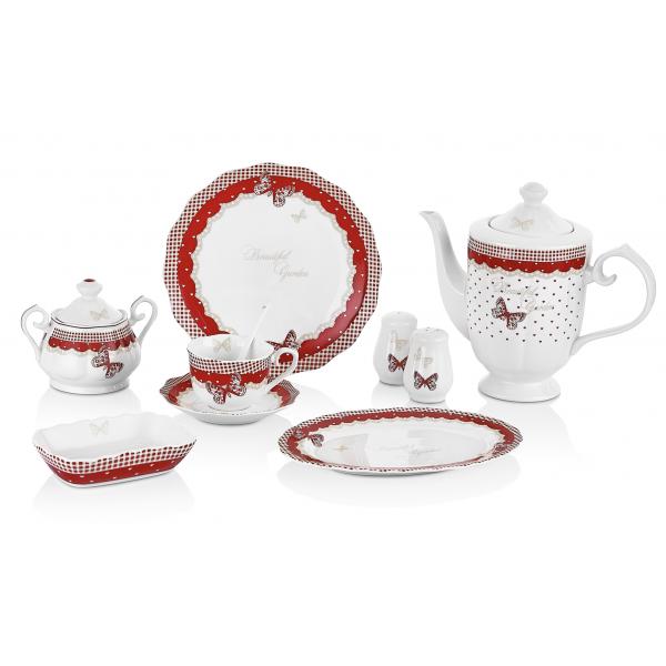 Porcelain breakfast set - 36 pieces
