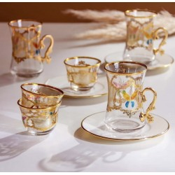 18-cup tea set with plates