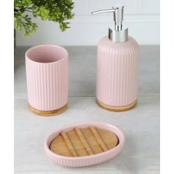 3-piece pink banyo set