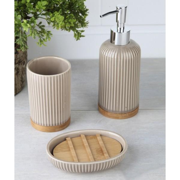3-piece dark beige banyo set