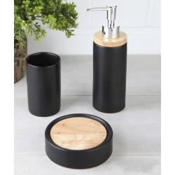 3-piece black banyo set