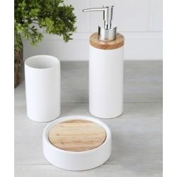 3-piece white banyo set