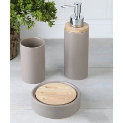 3-piece silver banyo set