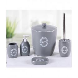 5-piece silver banyo set