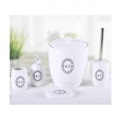 5-piece white banyo set