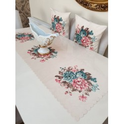A set consisting of  table cover and 2 pillow