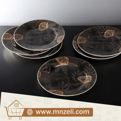 A set of 6-piece food dishes measuring 20 cm