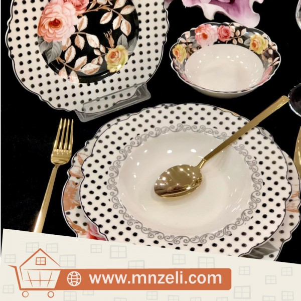 A set of 24-piece food dishes