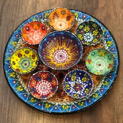 Turkish breakfast ceramics set blue