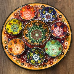 Turkish breakfast ceramics set yellow