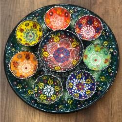Turkish breakfast ceramics set green