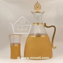 Set of 7 pieces jug + 6 juice cups