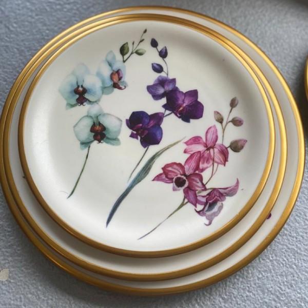 A set of 12 plates