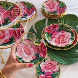 ROSE 30-piece Tea and Serving Set
