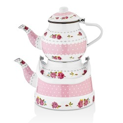 Lux Enamel Tea Pot Set ( 700 – 1700 ml )