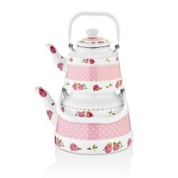 Lux Enamel Tea Pot Set ( 700 – 1700 ml )