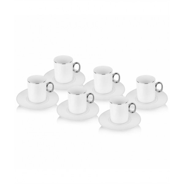 12-Piece Coffee Cup And Saucer SetWhite/Gold