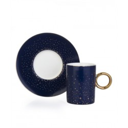 A cup of porcelain coffee and a 12-piece Blue