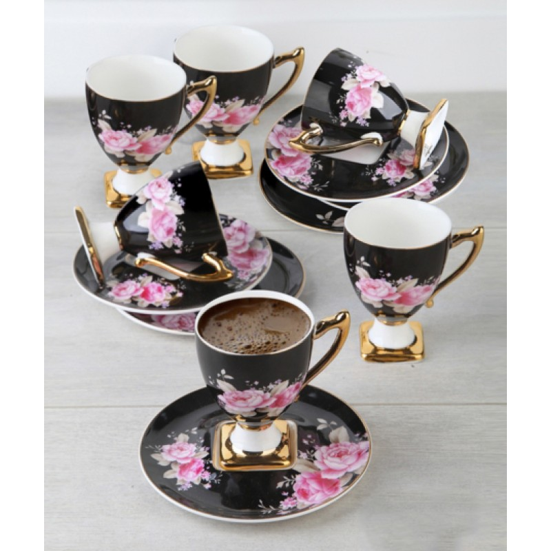 12 Piece Coffee Cup And Saucer Set