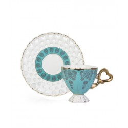 12-Piece Coffee Cup And Saucer Setturquoise / White