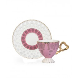 12-Piece Coffee Cup And Saucer Setpink / White