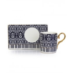 4-Piece Coffee Cup of porcelain And Saucer Setblack