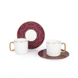 12-Piece Coffee Cup And Saucer Set Russet / white