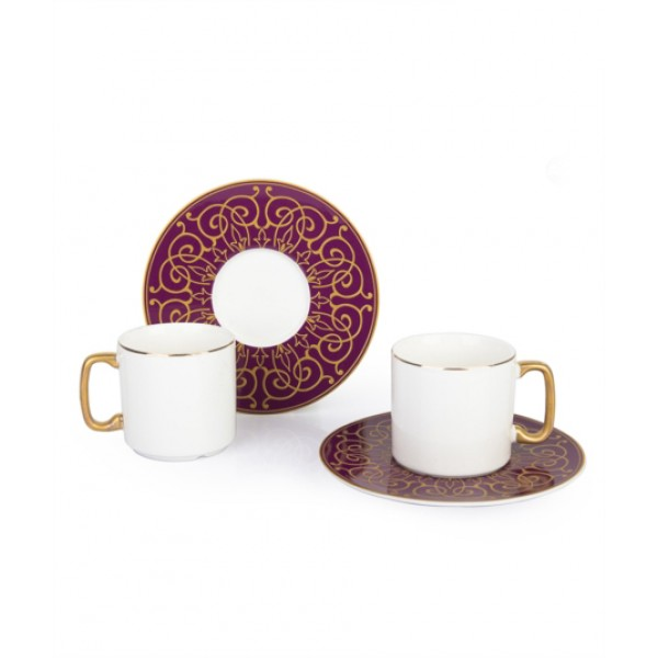 12-Piece Coffee Cup And Saucer SetRusset / white