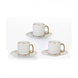 A cup of porcelain coffee and a 12-piece