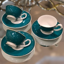 A set of coffee cups with 12-piece dishes