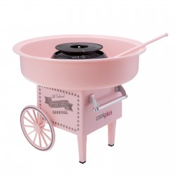 The candy making machine is pink color cotton