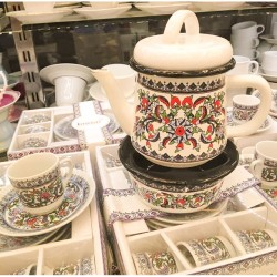 Turkish set consisting of teapot - heater - coffee cups, 6 pieces