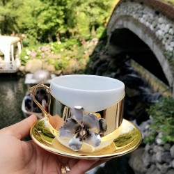 Turkish coffee cups with plates 6 pieces