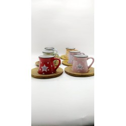 A set consisting of coffee cups with plates 6