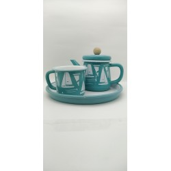 A set consisting of Turkish teapot - cup - tray