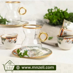 A set of tea sets with dish with coffee cupsConsists of 18 pieces