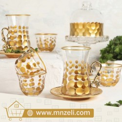 A set of tea sets with dish with coffee cups Consists of 18 pieces