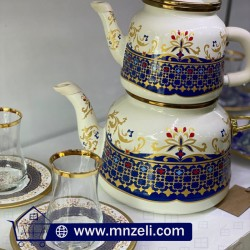 Jug set + tea cups set with 6 plates