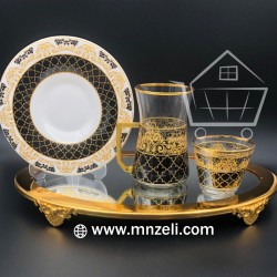 A set of tea sets with dish with coffee cups 18 pes