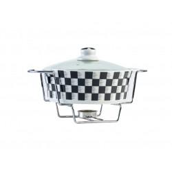 Porcelain pot with round lid size 20 cm DAMA